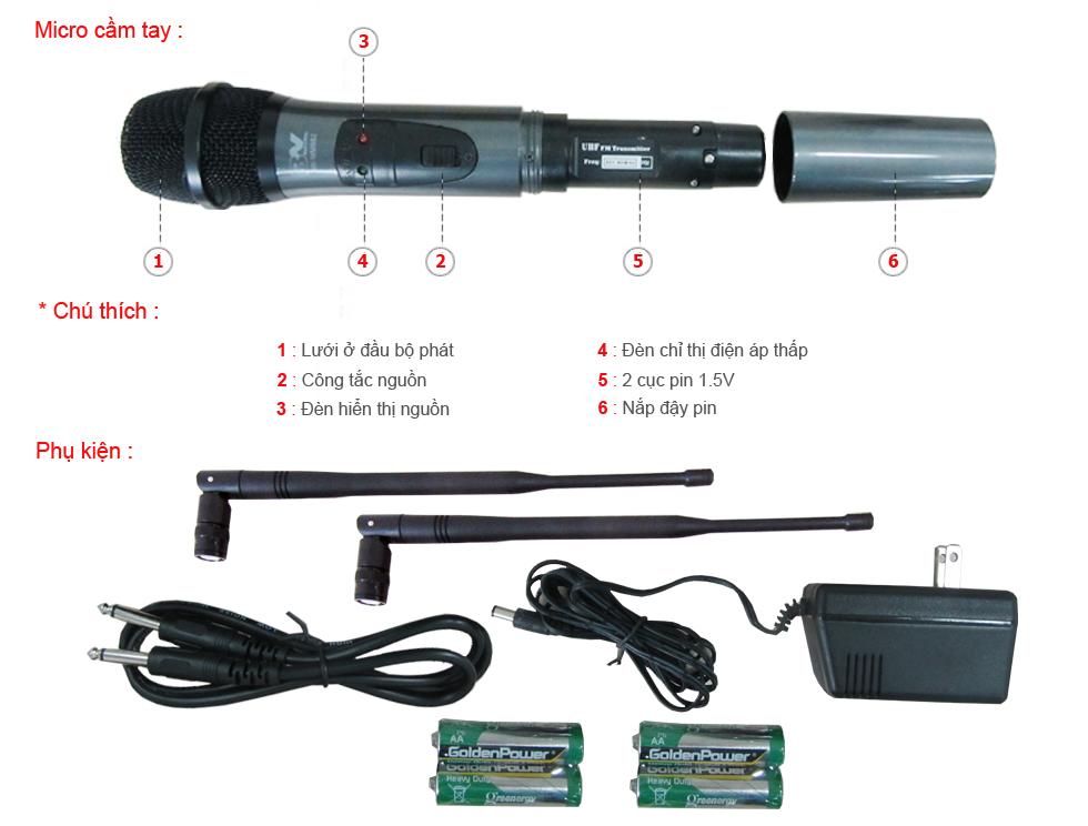 cấu tạo về micro karaoke
