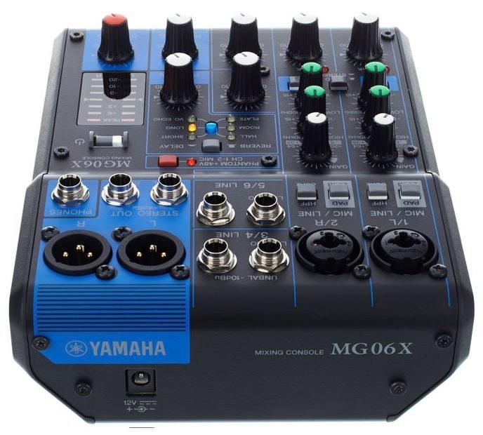 Bàn Mixer Yamaha MG06XU (6 KÊNH)