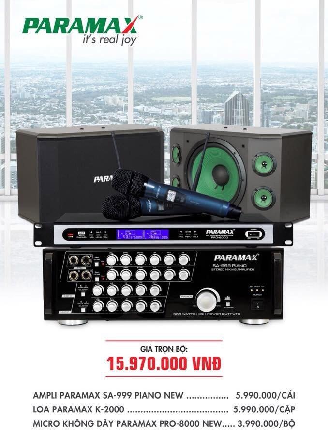 Bộ dàn karaoke cho gia đình PARAMAX 6
