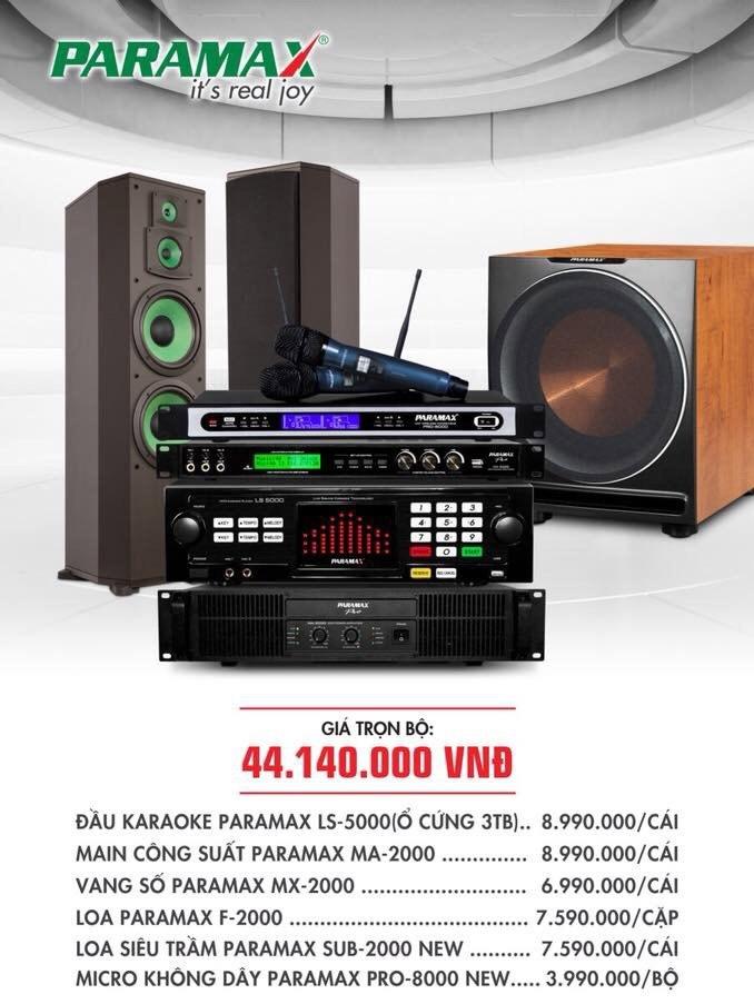 Bộ dàn karaoke cho gia đình PARAMAX 8