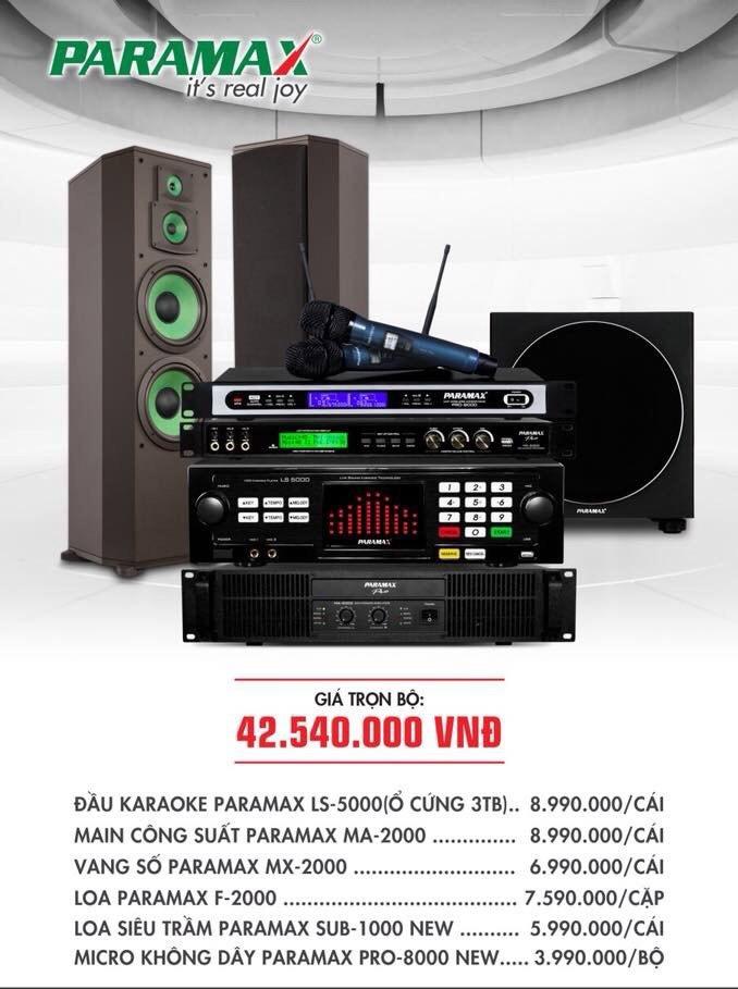 Bộ dàn karaoke cho gia đình PARAMAX 9