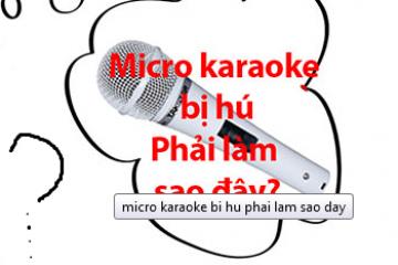 Cách chỉnh micro không bị hú rít khi hát karaoke