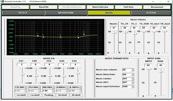 Phần mềm tinh chỉnh âm thanh của Vang số 3G Audio DCM 28E